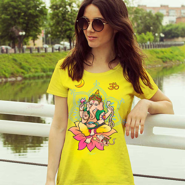 Ganesha yoga t-shirt by Sushila Oliphant, apparel for the spirit