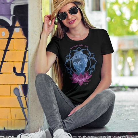 Women's short sleeve t-shirt - Buddha with Lotus