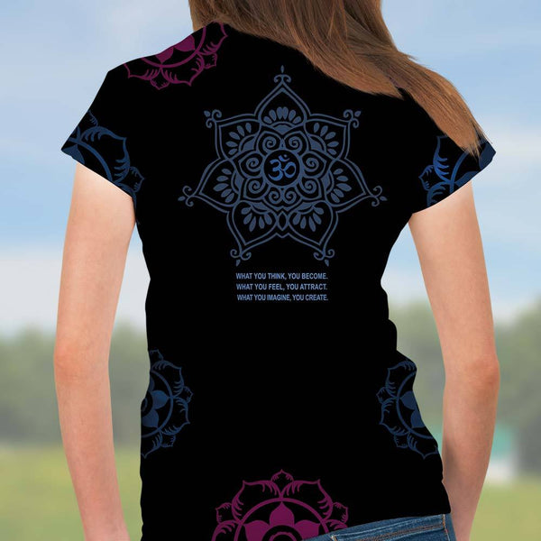 Buddha t-shirt great for yoga by Sushila Oliphant