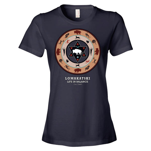 White Buffalo Medicine Wheel Native American t-shirt by Sushila Oliphant for Apparel for the Spirit