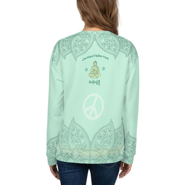 Buddha yoga sweatshirt by Sushila Oliphant for Apparel for the Spirit