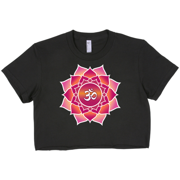 Short sleeve crop top - Om and Lotus