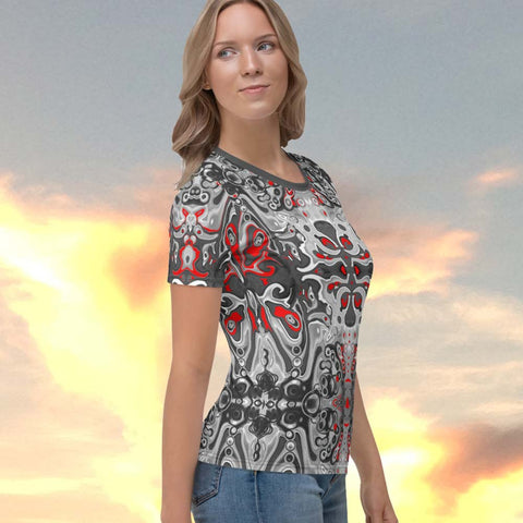 Women's t-shirt with a spiritual Celtic design by Sushila Oliphant, Apparel for the Spirit.