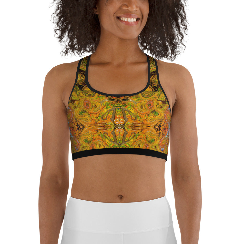 Yoga sports bra with an Eastern flair by Sushila Oliphant, Apparel for the Spirit.