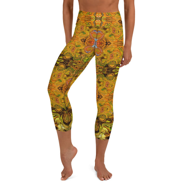 Cool yoga capri leggings by Sushila Oliphant, Apparel for the Spirit.