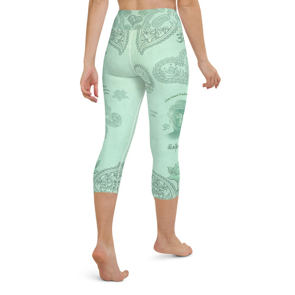 Buddha yoga capri leggings by Sushila Oliphant, Apparel for the Spirit.