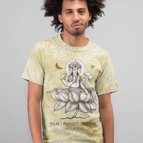 Brahman, a Hindu Diety, yoga t-shirt by artist Sushila Oliphant, apparel for the spirit