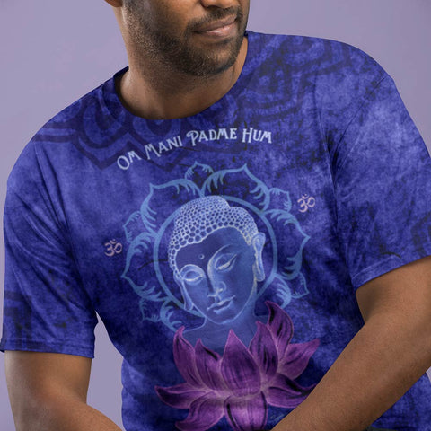 Buddha meditating t-shirt great for yoga by Sushila Oliphant for Apparel for the Spirit