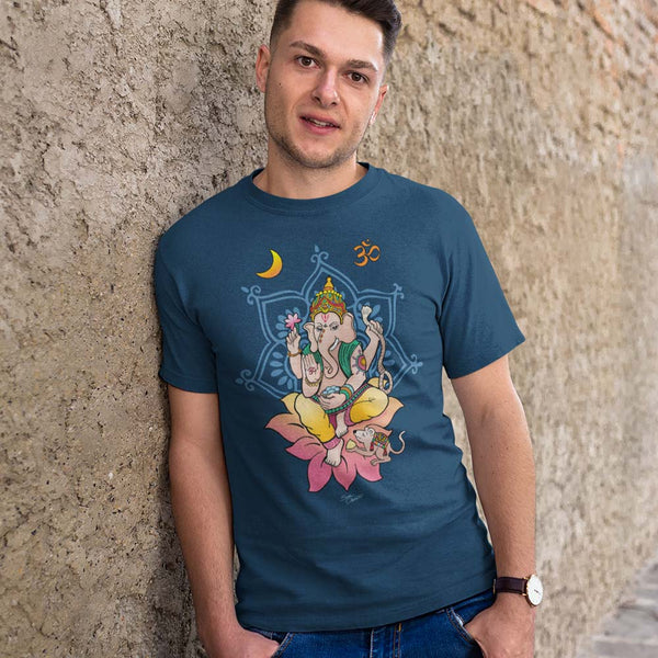 Ganesha yoga t-shirt by Sushila Oliphant