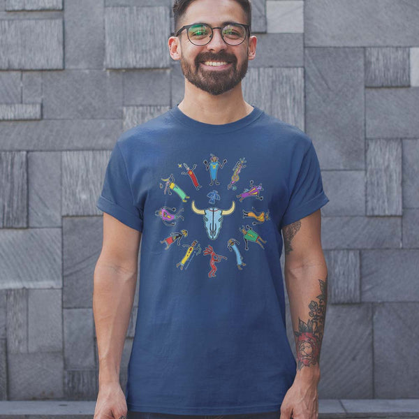 men's Native American themed t-shirt by Sushila Oliphant