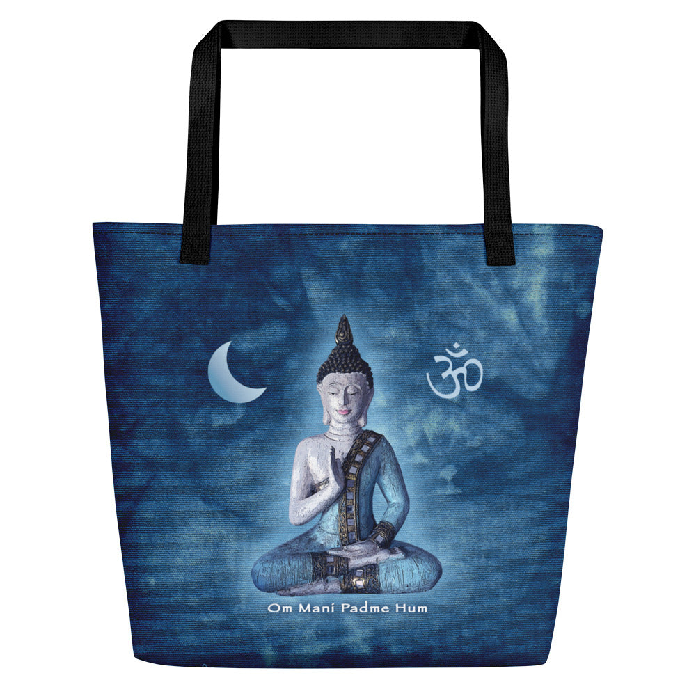 Blue Buddha Yoga Beach Bag