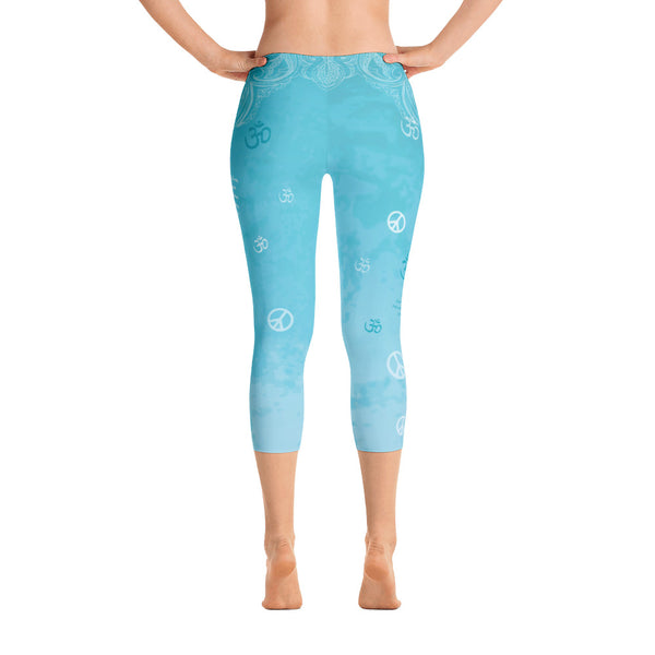 Om Shanti - Peace - Capri Leggings