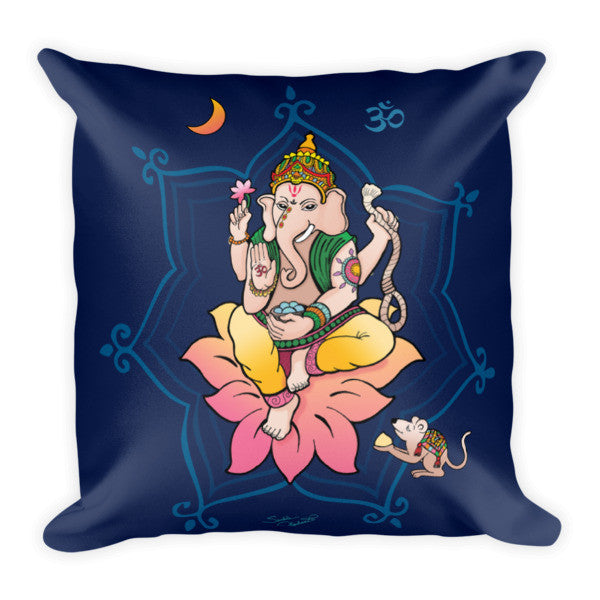 Ganesha meditation pillow by Sushila Oliphant