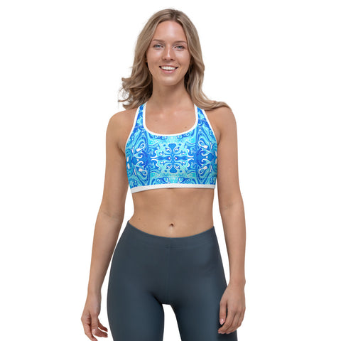 Cool and colorful yoga sports bra that looks terrific designer Sushila Oliphant.