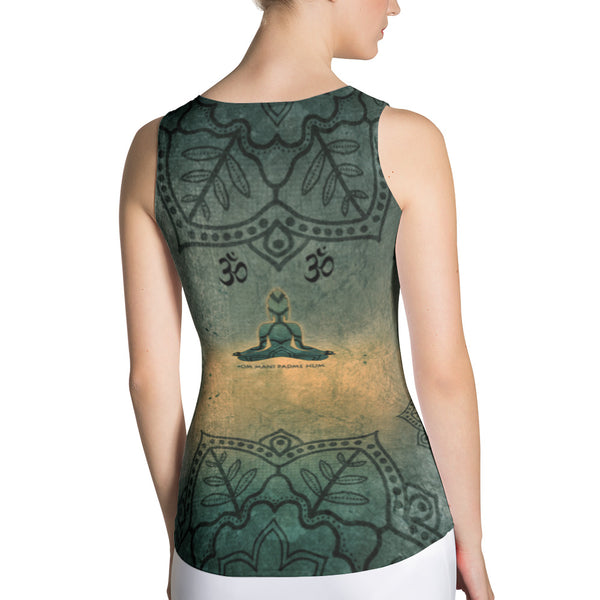 Buddha in Mudra Sublimation Yoga Tank Top