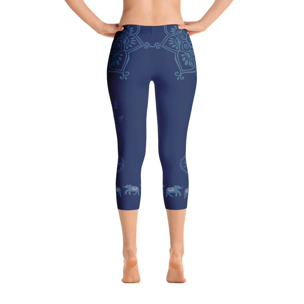 Sri Ganesha Capri Leggings