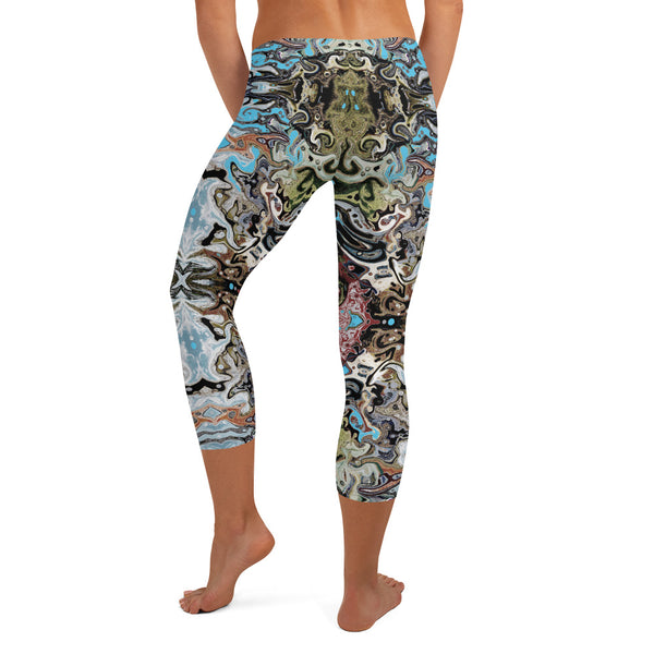 Cool capri leggings wear to workouts at the gym, yoga classes designer Sushila Oliphant.