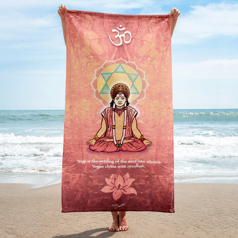 Avatar in Meditation Yoga Beach Towel