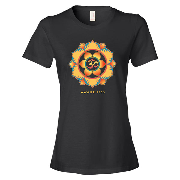 Awareness women's spiritual yoga t-shirt by Sushila Oliphant for Apparel for the Spirit