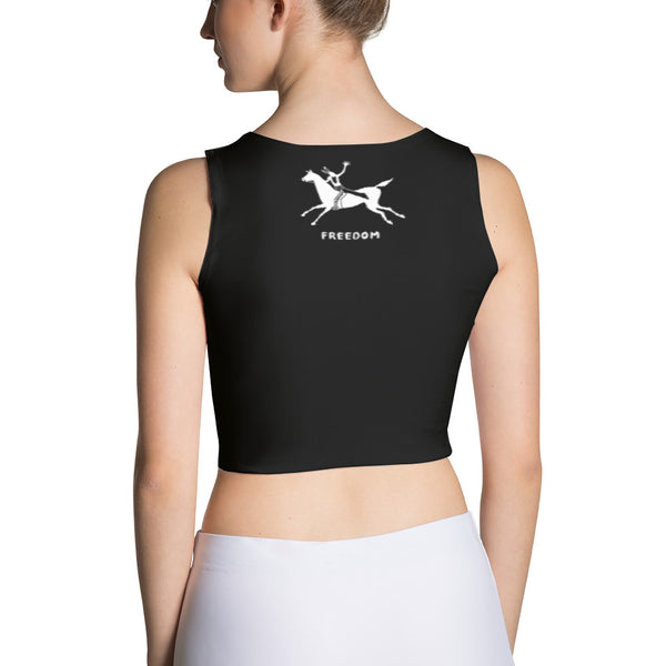 Native American yoga crop top by Sushila Oliphant