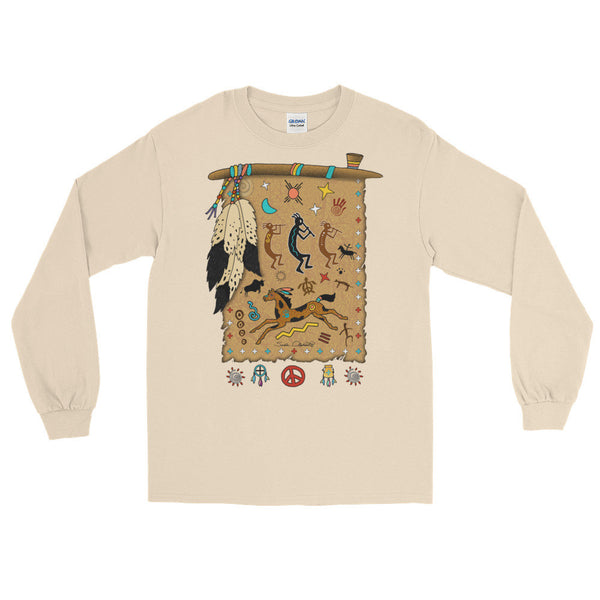 Long Sleeve T-Shirt - Peace Pipe Shield
