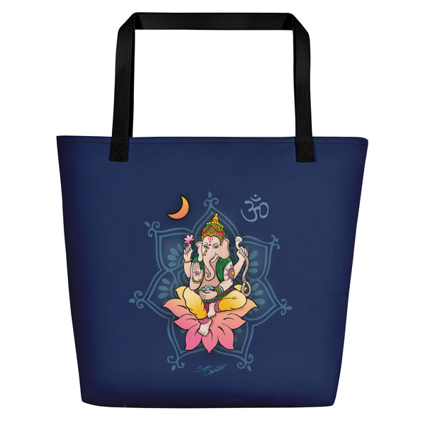 Sri Ganesha Yoga Beach Bag