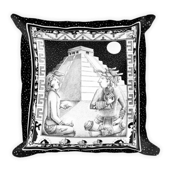 Mayan Shamans meditation pillow by Sushila Oliphant