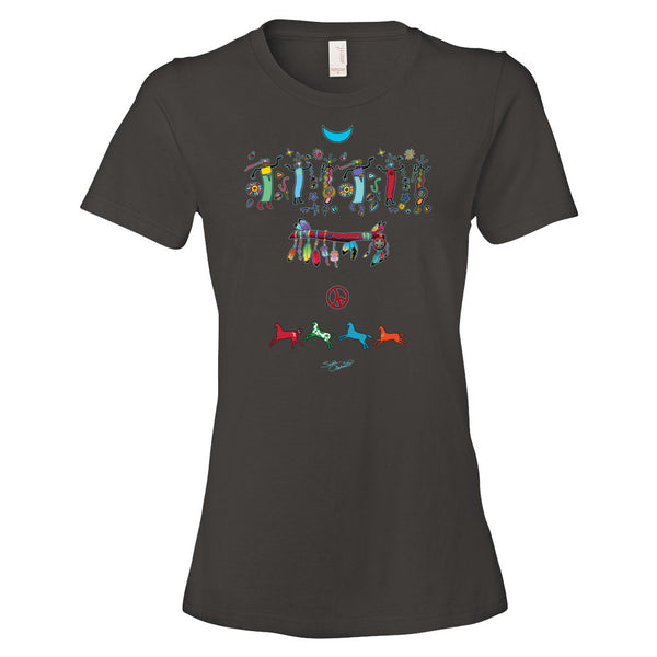 Medicine Wand Native Amemrican themed yoga t-shirt by Sushila Oliphant, apparel for the spirit