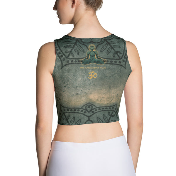 Buddha yoga crop top by Sushila Oliphant