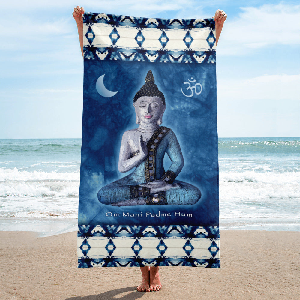 Blue Buddha Yoga Beach Towel