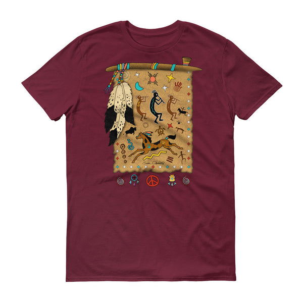 Native American tribal and spiritual t-shirt by Sushila Oliphant