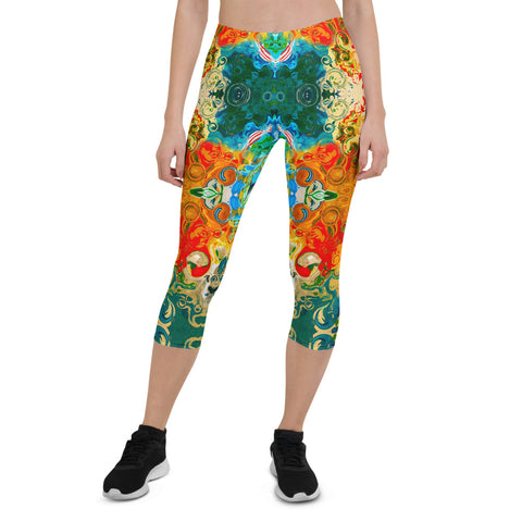 Capris leggings wear to workouts at the gym, yoga classes designer Sushila Oliphant.