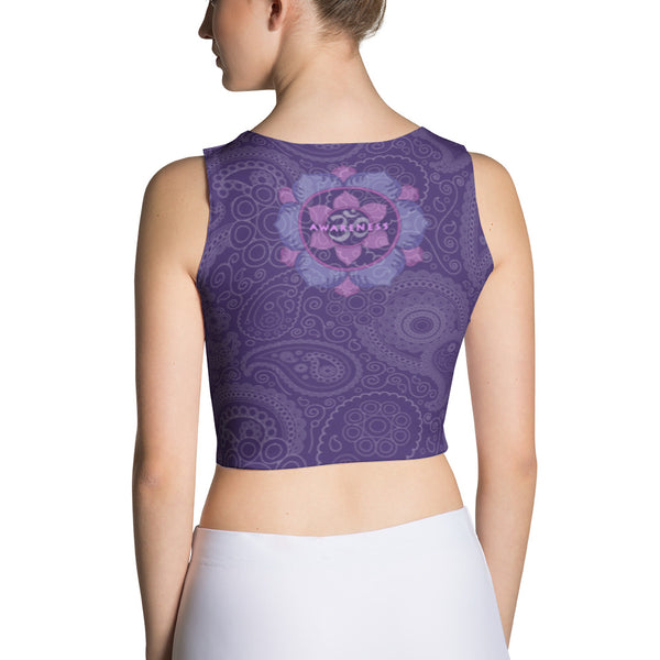 Yantra of Sri Ganesha - Yoga Sublimation Crop Top