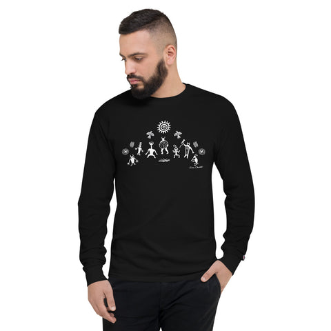 Nature Spirits (black) Men's Champion Long Sleeve Shirt