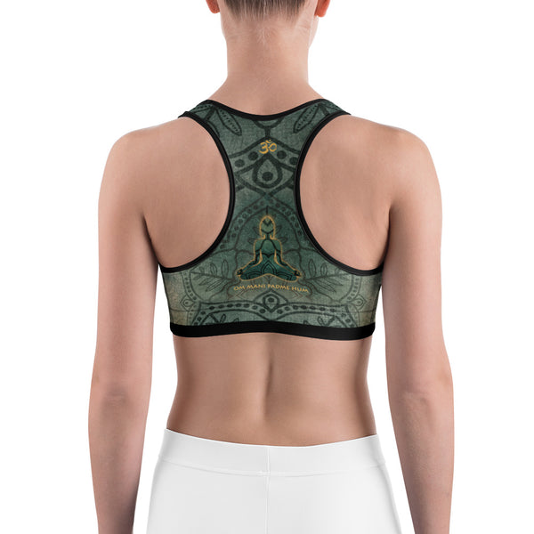 Buddha yoga sports bra by Sushila Oliphant