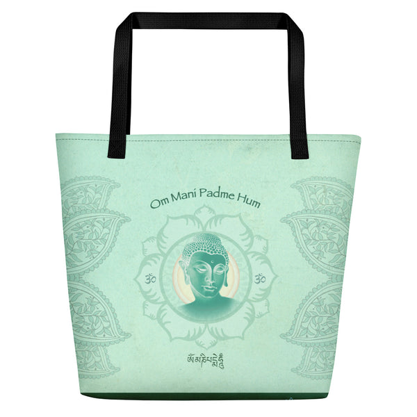Jade Buddha Yoga Beach Bag