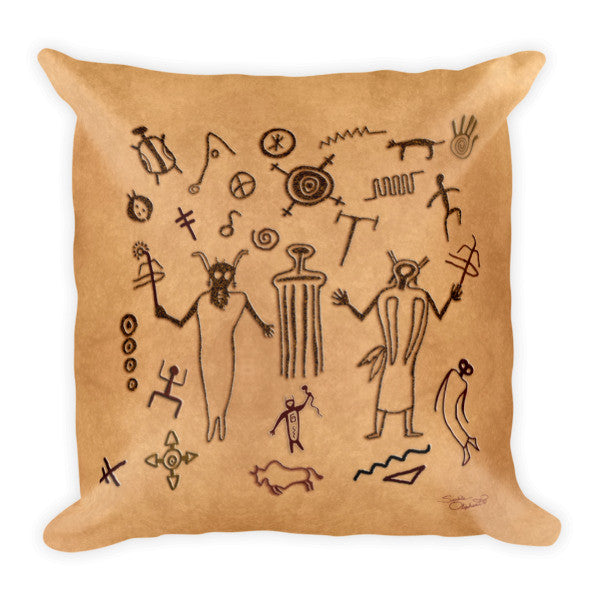 Southwest Tribal meditation pillow by Sushila Oliphant