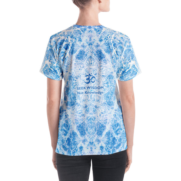 Ganesha yoga v-neck t-shirt by Sushila Oliphant