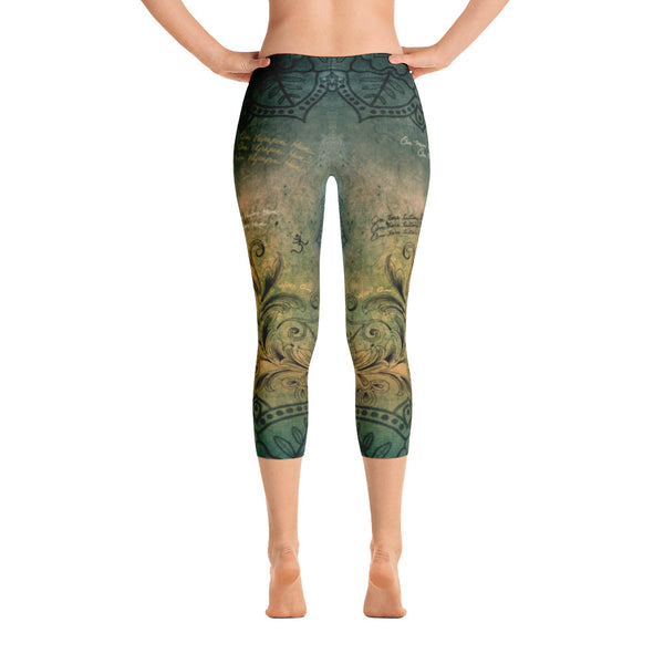Buddha in Mudra Capri Leggings