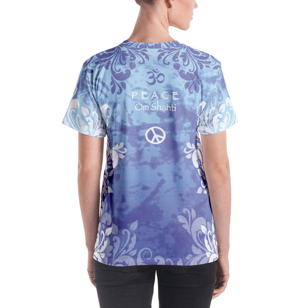 yoga themed women's t-shirt by Sushila Oliphant