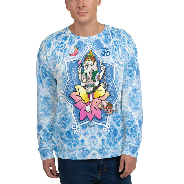 Ganesha yoga sweatshirt by Sushila Oliphant, apparel for the spirit
