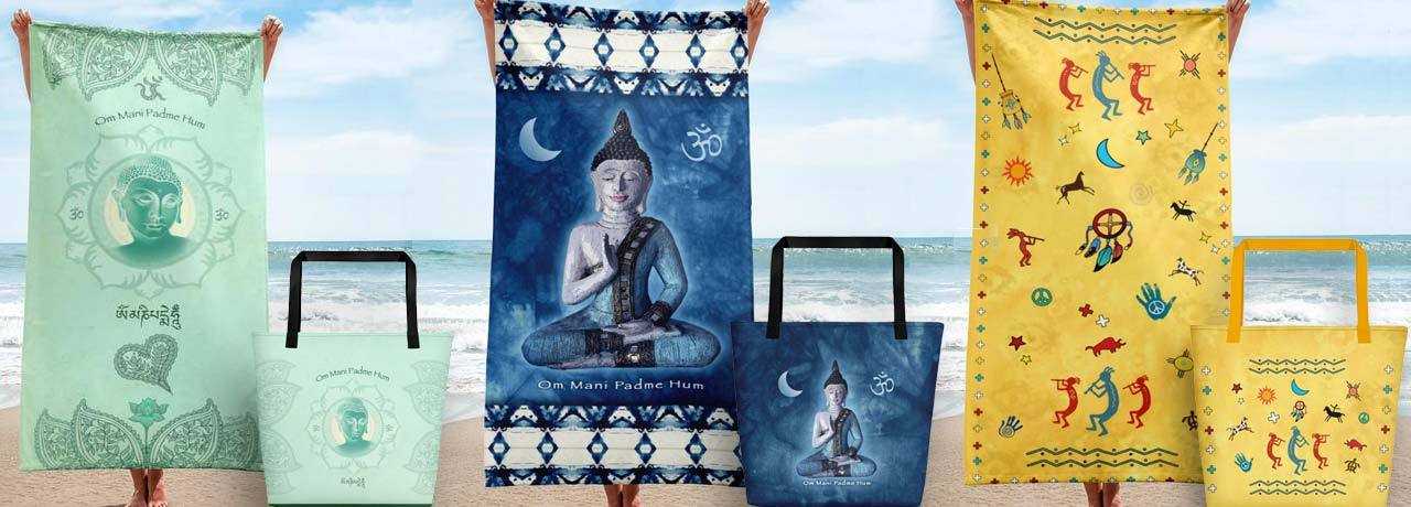 yoga towels and beach bags