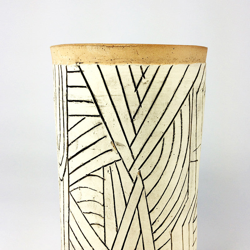 Tall Carved Tumbler