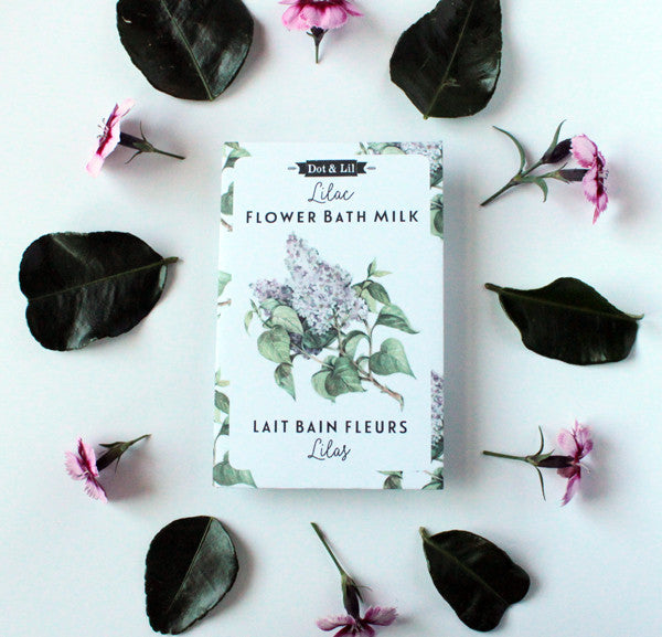 wholesale bath - lilac flower milk bath sachet