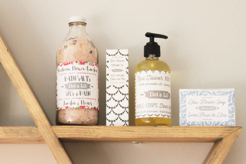 Dot & Lil Wholesale bath salts and skincare