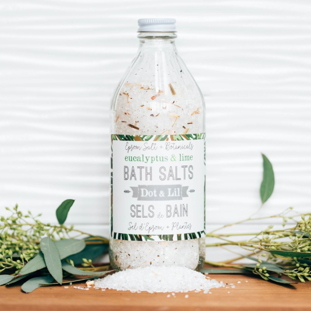 eucalyptus & lime bath salt