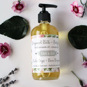 bergamot bath and body oil