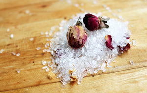 bergamot & rose petal bath salt