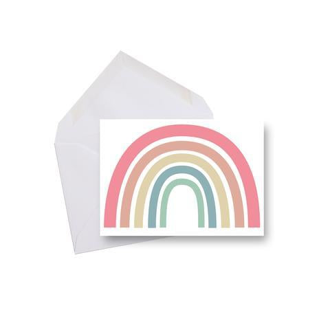 """Everything Will Be Okay"" rainbow greeting card"