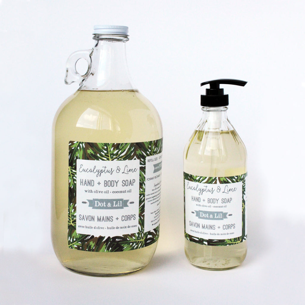 eucalyptus & lime liquid soap